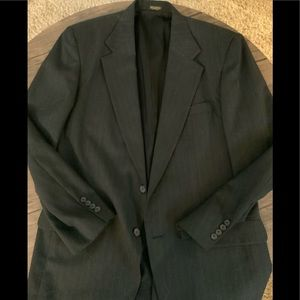 Suit jacket, grey pinstriped